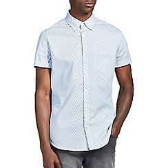 Burton - Blue geo print shirt