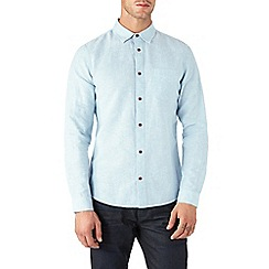 Burton - Long sleeve mint linen blend shirt