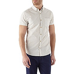 Burton - Short sleeve ecru printed shirt