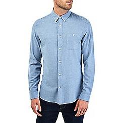 Burton - Long sleeve blue twill shirt
