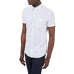 Burton - Short sleeve white print shirt