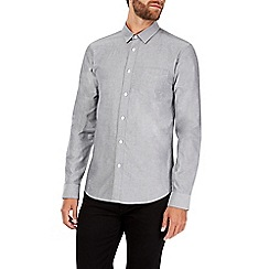 Burton - Long sleeve grey oxford shirt