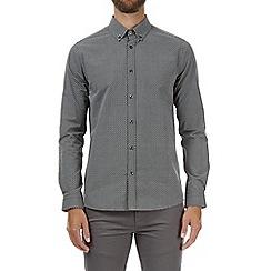 Burton - Black and grey long sleeve zig zag print shirt