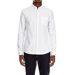Burton - White long sleeve waffle print shirt