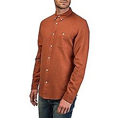 Burton - Long sleeve rust twill shirt