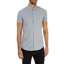 Burton - Short sleeve grey polka dot shirt