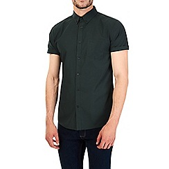 Burton - Short sleeve green print shirt