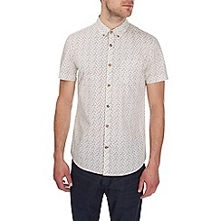 Burton - Short sleeve ecru floral shirt