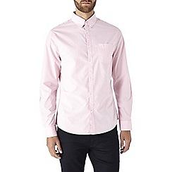 Burton - Long sleeve pink poplin shirt