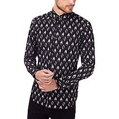 Burton - Black long sleeve dotty print shirt