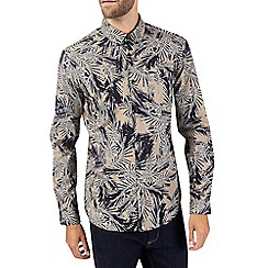 Burton - Stone leaf print long sleeve shirt