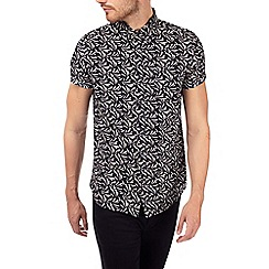 Burton - Black short sleeve stroke print shirt