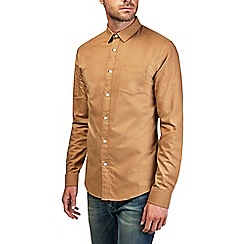 Burton - Tan long sleeve oxford shirt