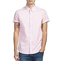 Burton - Pink geo print shirt