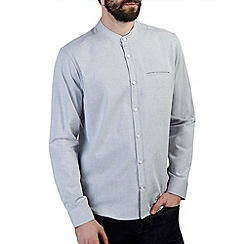 Burton - Grey grandad collar shirt