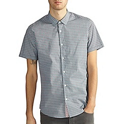 Burton - Green all over print shirt