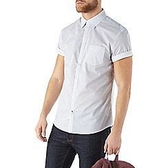 Burton - Short sleeve white geo print shirt