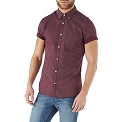 Burton - Short sleeve burgundy geo print shirt