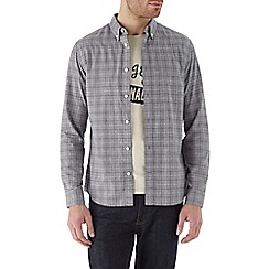 Burton - Long sleeve grey check shirt