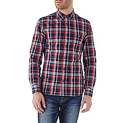 Burton - Long sleeve red check poplin shirt