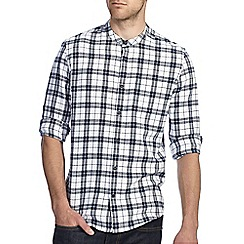 Burton - Navy & cream check shirt