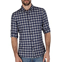 Burton - Blue & grey check shirt
