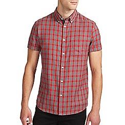 Burton - Red tartan check shirt