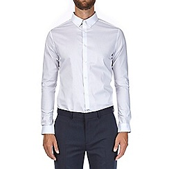 Burton - Long sleeve white stretch skinny shirt