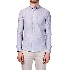 Burton - Grey long sleeve stretch skinny fit oxford shirt