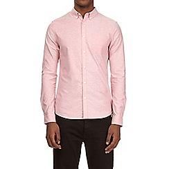 Burton - Pink long sleeve stretch skinny fit oxford shirt