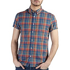 Burton - Orange & navy check shirt