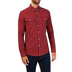 Burton - Long sleeve berry flannel shirt