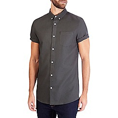 Burton - Khaki short sleeve waffle shirt