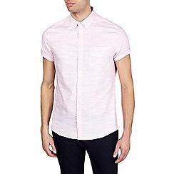 Burton - Pink short sleeve textured shirt