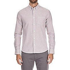 Burton - Pink long sleeve striped oxford shirt