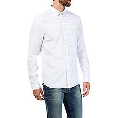 Burton - White long sleeve waffle shirt