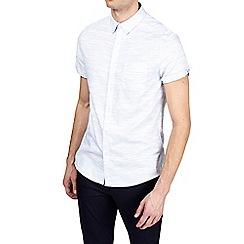 Burton - Blue short sleeve textured shirt