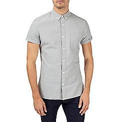 Burton - Short sleeve khaki dobby shirt