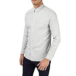 Burton - Grey long sleeve twill shirt