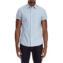 Burton - Blue short sleeve nepp shirt