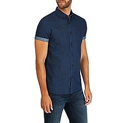 Burton - Blue short sleeve printed shirt