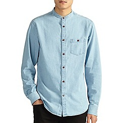 Burton - Blue denim grandad shirt