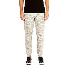 Burton - Ecru injection fabric interest joggers