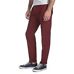 Burton - Wine slim fit chinos