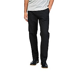 Burton - Black stretch straight chinos