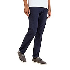 Burton - Navy stretch straight chinos
