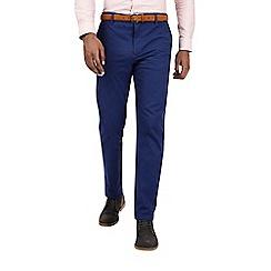 Burton - Blue slim fit belted chinos