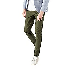 Burton - Khaki stretch chinos