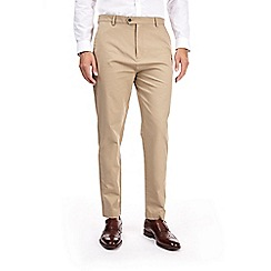 Burton - Beige tapered fit chinos