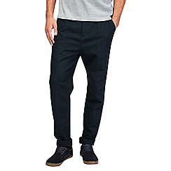 Burton - Black relaxed tapered chinos